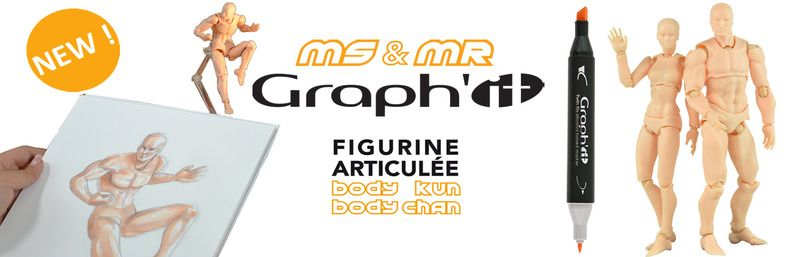 Discover Miss & Mister GRAPH'IT, poseable figurine for drawing !
