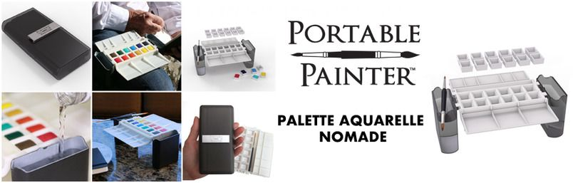 Palette Aquarelle Nomade : Portable Painter